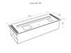 размеры Автоматический биокамин Good Fire 700 RC INOX