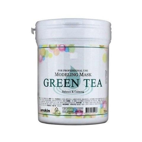 Anskin Grean Tea Modeling Mask маска альгинатная успокаивающая и антиоксидантная с зеленым чаем