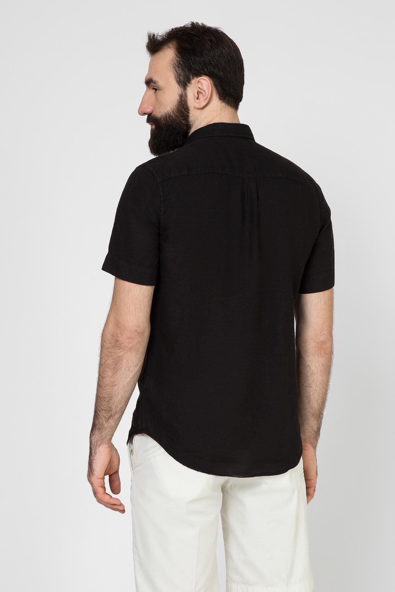 Мужская черная льняная рубашка S-KIRUMA Diesel