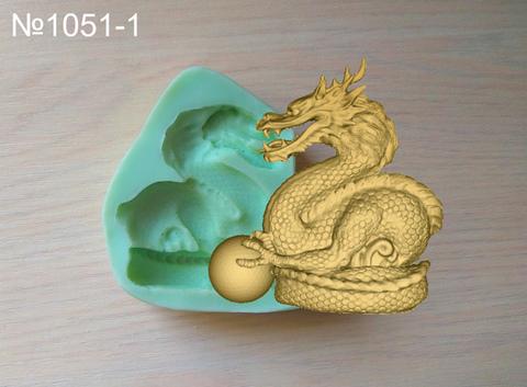 Силиконовый молд  № 1051-1 Дракон с шаром