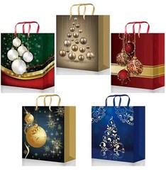 Новогодние подарочные пакеты 26х33х14 (Premium, к-т 40 шт.)