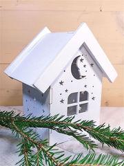 """Ночник домик из дерева со светодиодной свечой """"Уютная ночь"""""""