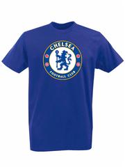 Футболка с принтом FC Chelsea (ФК Челси) синяя 002