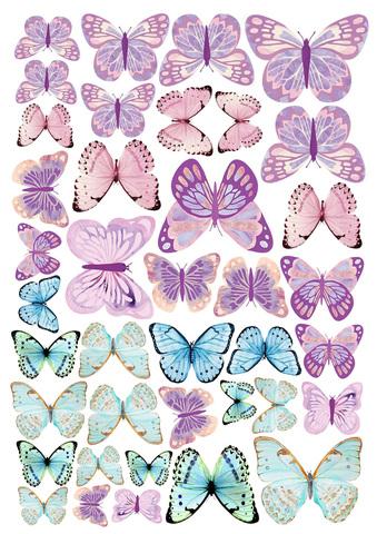Печать на вафельной бумаге, Набор Бабочки 17