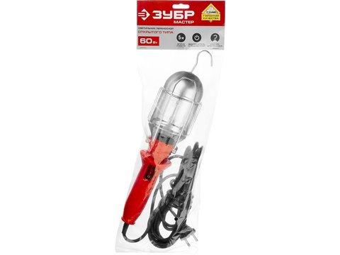 Светильник переносной с выключателем, 5м, 60 Вт/220В, ЗУБР