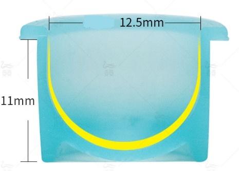 Капсы для пигмента силиконовые в банке 100 шт.