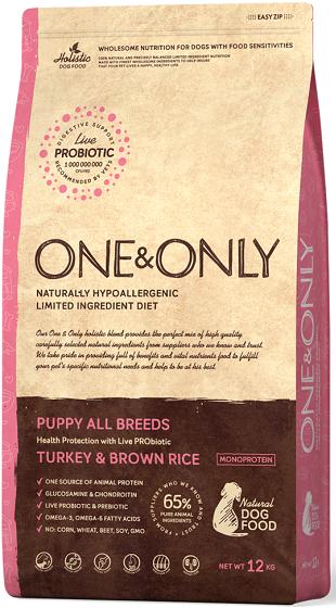 Сухой корм Корм для щенков всех пород, ONE&ONLY Turkey & Rice PUPPY All Breeds, с индейкой и рисом Индейка_с_рисом.png