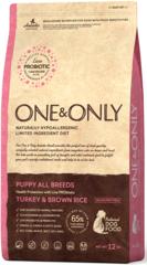 Корм для щенков всех пород, ONE&ONLY Turkey & Rice PUPPY All Breeds, с индейкой и рисом