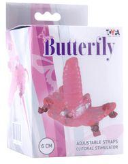 Розовая клиторальная бабочка G-SPOT ORGAZM