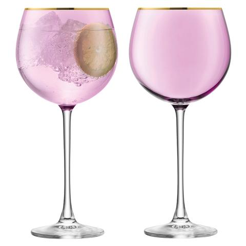 Набор из 2 круглых бокалов Sorbet, 525 мл, розовый