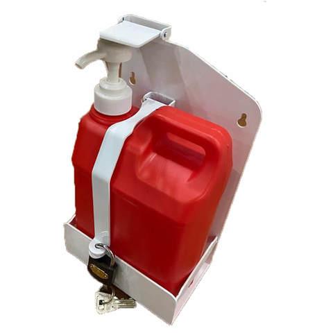 Локтевой дозатор для антисептика настенный 2 л