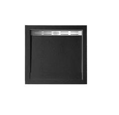 Душевой поддон WeltWasser WW TRS  80 STONE-BL 80х80 см черный с сифоном
