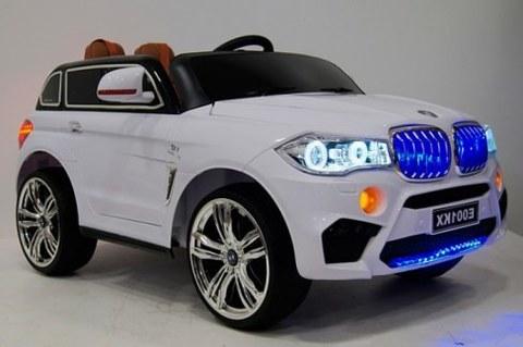 Детский электромобиль Rivertoys BMW X5 E002KX-WHITE белый