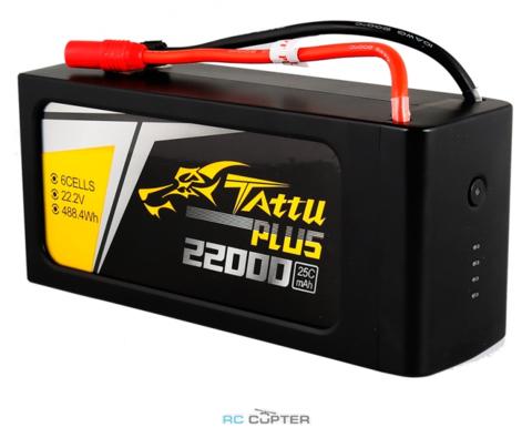 АКБ Gens Ace TATTU Plus 22000mAh 22.2V 25C 6S1P Lipo Battery Pack