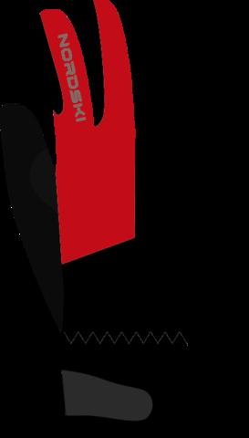 Перчатки Nordski Jr.Racing Black/Red WS детские