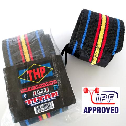 купить кистевые бинты для пауэрлифтинга и жима лежа Titan THP 50 см разрешенные в IPF