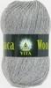 Пряжа Vita Alpaca Wool 2991 (Серый меланж)