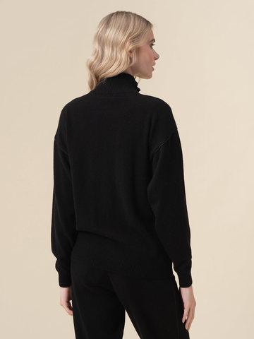 Женский жакет черного цвета на молнии из 100% кашемира - фото 2