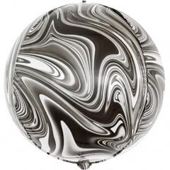 К Сфера 3D, Мрамор, Черный, 24''/61 см, 1 шт.