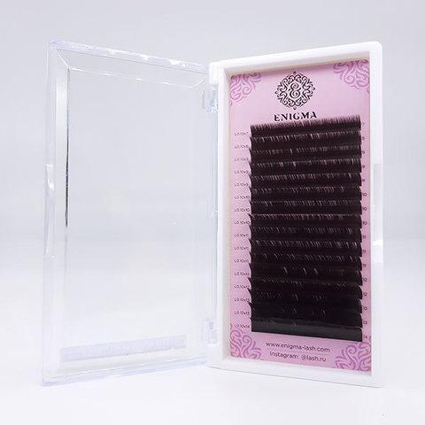 Ресницы Enigma цвет «Мокка» микс 0,07/D/8-14 mm (16 линий)