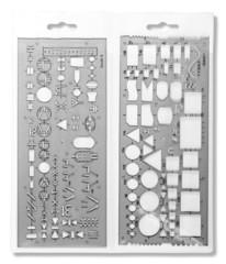 Шаблоны электрических схем 703071 (общие, контурные символы и электроника)