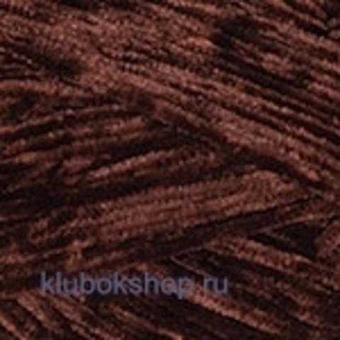 Пряжа Velour (YarnArt) 852 Коричневый - ворсовая пряжа