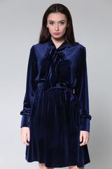Велюровое платье до колена Nadya