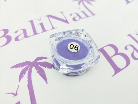 Термо-пигмент для дизайна ногтей (синий) #06