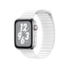 Ремешок кожаный COTEetCI W7 Leather Magnet Band (WH5205-WH) для Apple Watch 40мм/ 38мм Белый