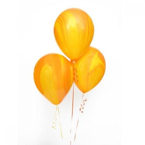 Воздушные шары агат желтый