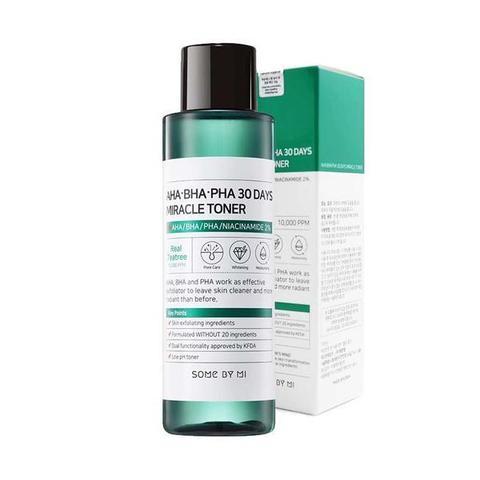 Some By Mi AHA-BHA-PHA 30 Days Miracle Toner кислотный очищающий тонер для проблемной кожи