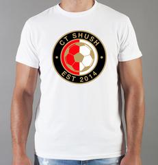Футболка с принтом FC Feyenoord  (ФК Фейеноорд) белая 003