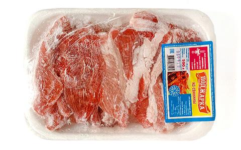 Поджарка из свинины «Ирмень» свежемороженая 500г