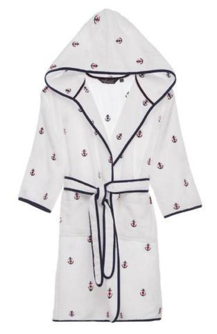 Детский махровый халат MARINE белый 8