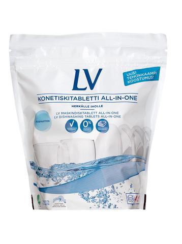 LV Таблетки для мытья посуды в посудомоечной машине (40 таблеток)