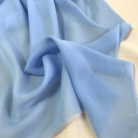 Шифон шелковый голубой 1140