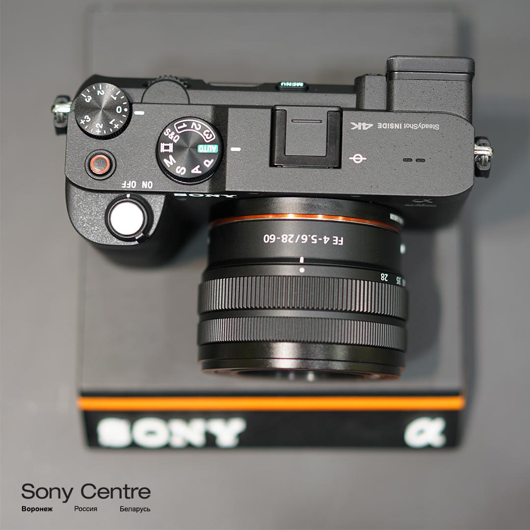 Sony A7C чёрного цвета с китовым объективом SEL2860