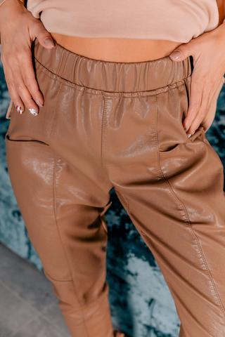 Кожаные штаны с карманами купить