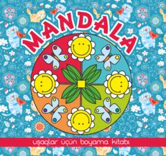 Mandala. Uşaqlar üçün boyama kitabı (mavi)