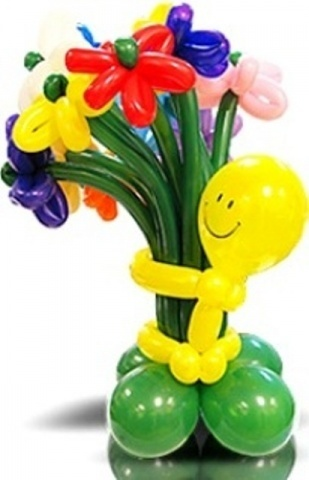 Букет цветов улыбашка