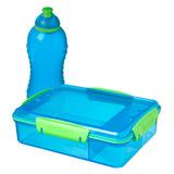 Набор Lunch: контейнер с разделителями (975 мл) и бутылка (330 мл), артикул 41575, производитель - Sistema