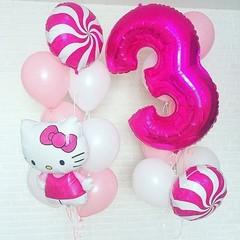 Воздушный шар (40''/102 см) Цифра, 3, Фуше, 1 шт.