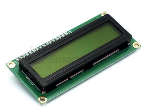 Дисплей LCD1602, 2-строчный, желтый