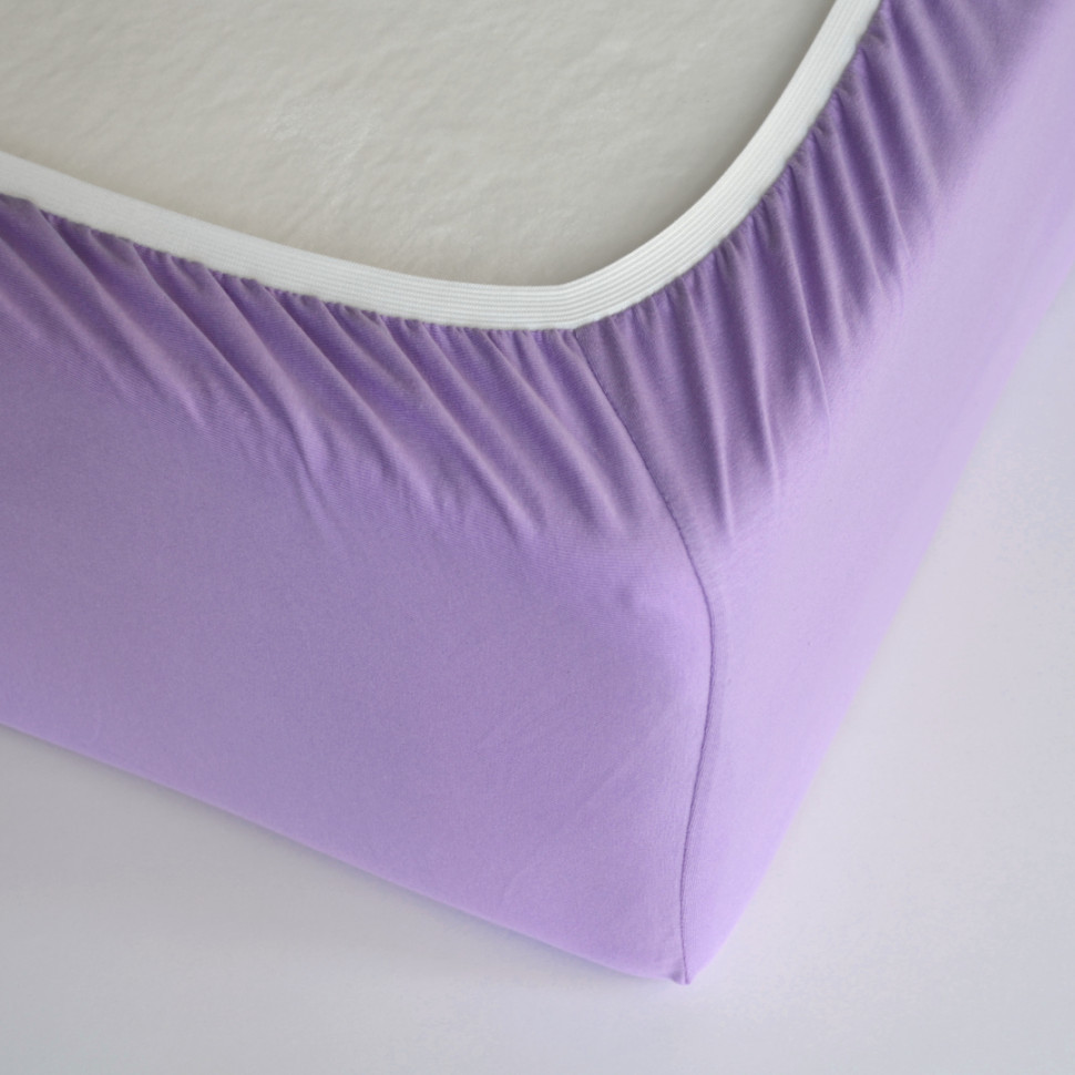 TUTTI FRUTTI сирень - Односпальная простыня на резинке