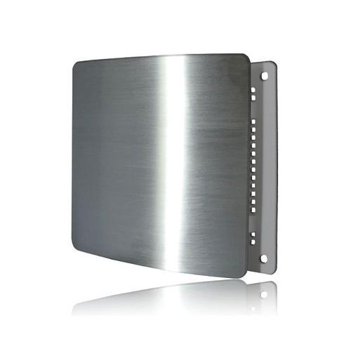 Решетка на магнитах Родфер РД-140 Нержавейка матовая с декоративной панелью 140х140 мм