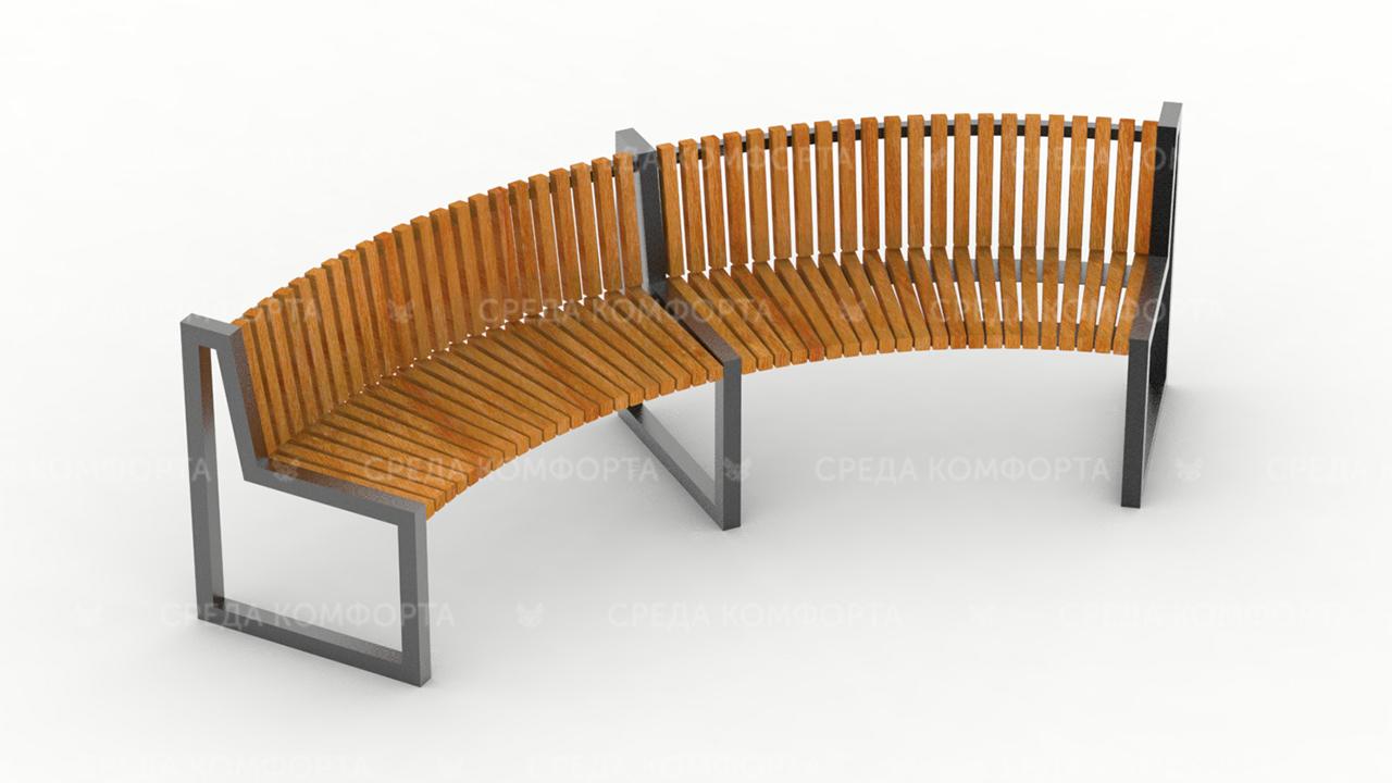 Полукруглая скамейка SCAM0007