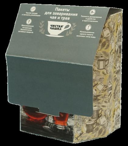 Фильтр-пакеты Чистая Чашка (40х5шт) шоубокс, фильтр-бумага, с клапаном