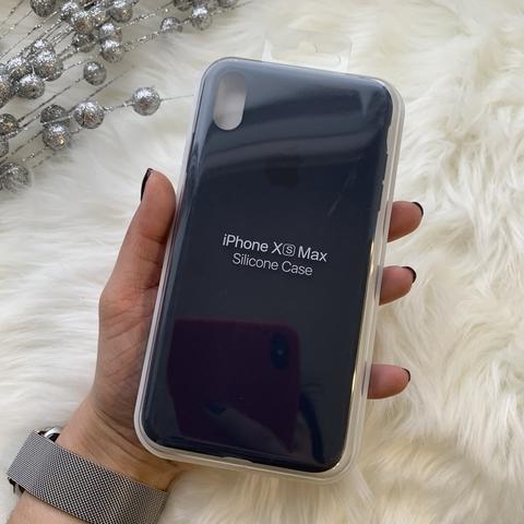Чехол iPhone XS Max Silicone Slim Case /midnight blue/