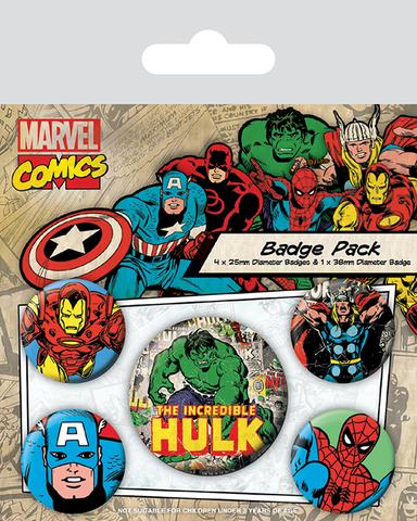 Набор значков «Marvel Retro. Халк»