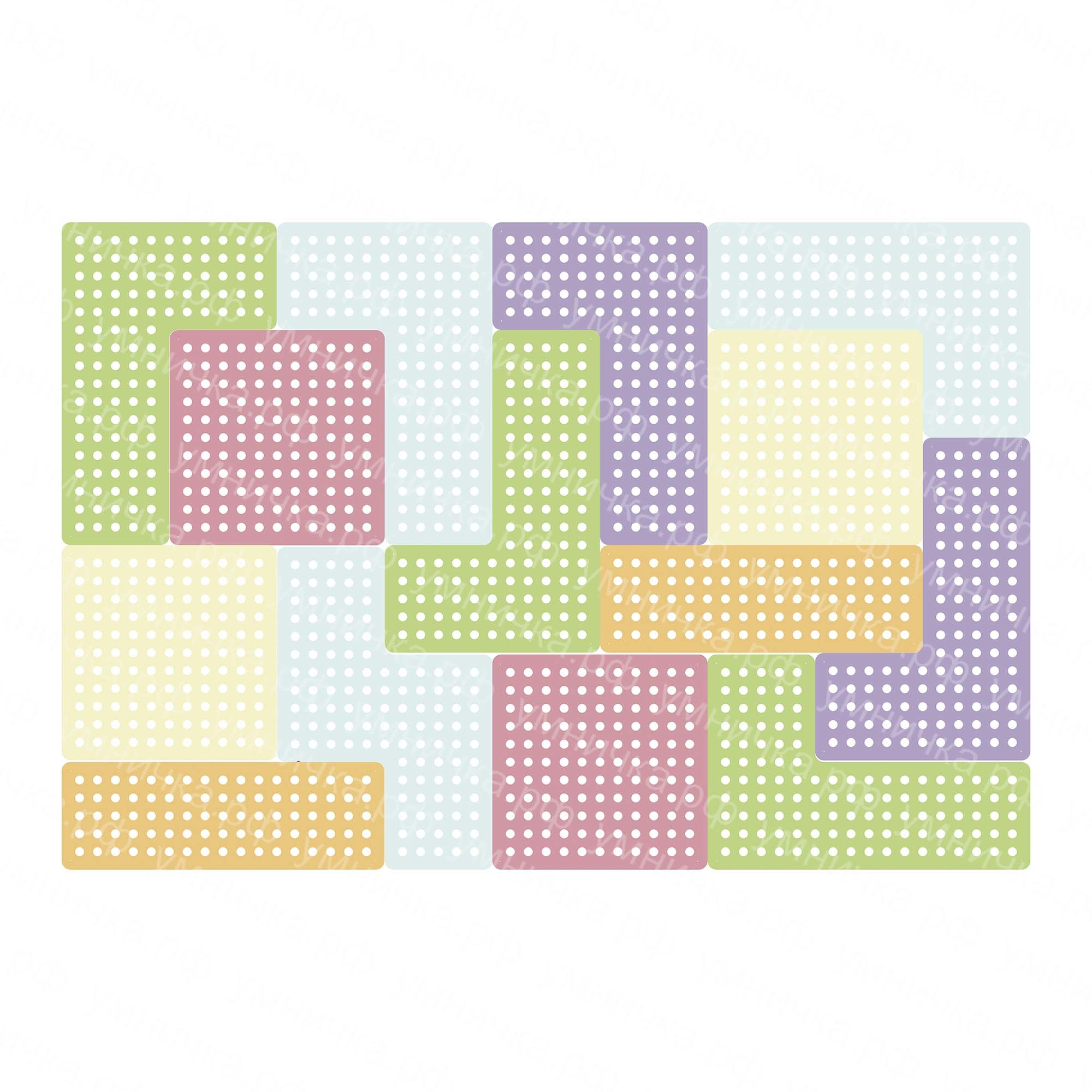Комплекты из тетриса Настенные панели «Тетрис» 14 штук Тетрис_пастель_ВЗ.jpg